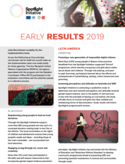 Spotlight Initiative early results report - September 2019